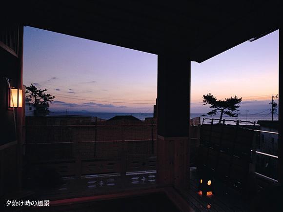 夕焼け時の風景